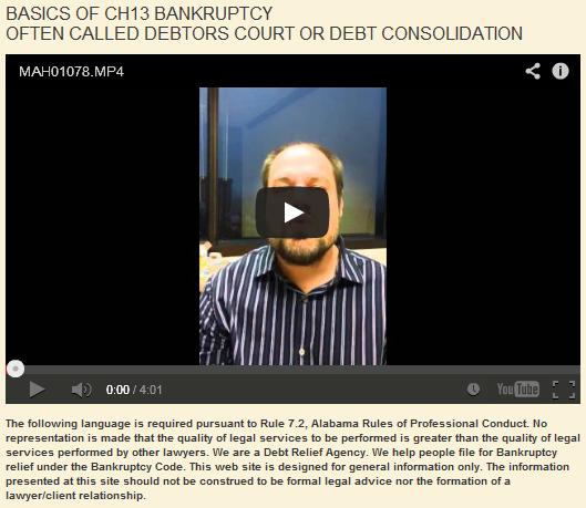 Chapter 13 Bankruptcy, or Debtor's Court Basics