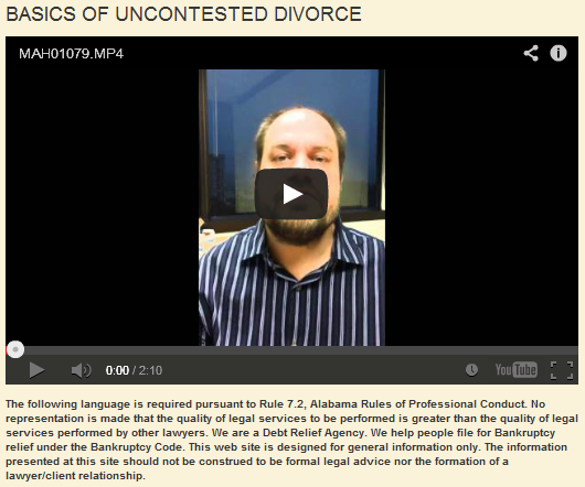 Uncontested Divorce Basics